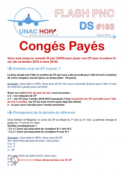 Conges Payes Unac Union Des Navigants De L Aviation Civile