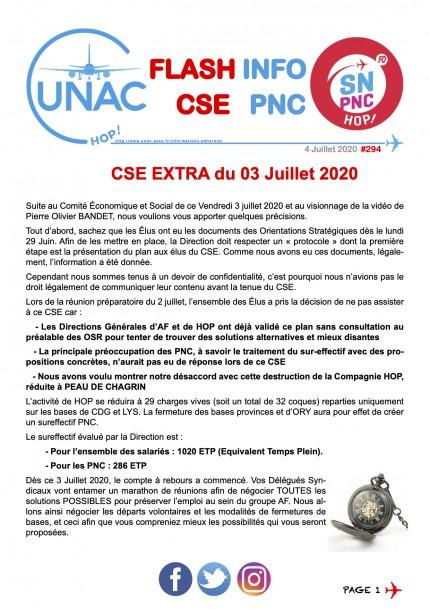 CSE Extra du 03 Juillet 2020