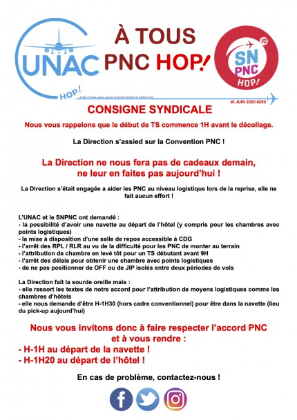TRACT293consigne syndicale
